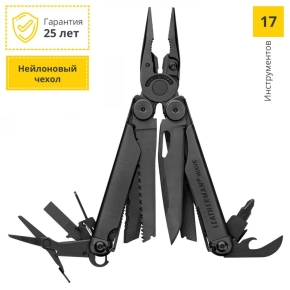 832526 Мультитул Leatherman Wave Plus 100мм 17функций черный